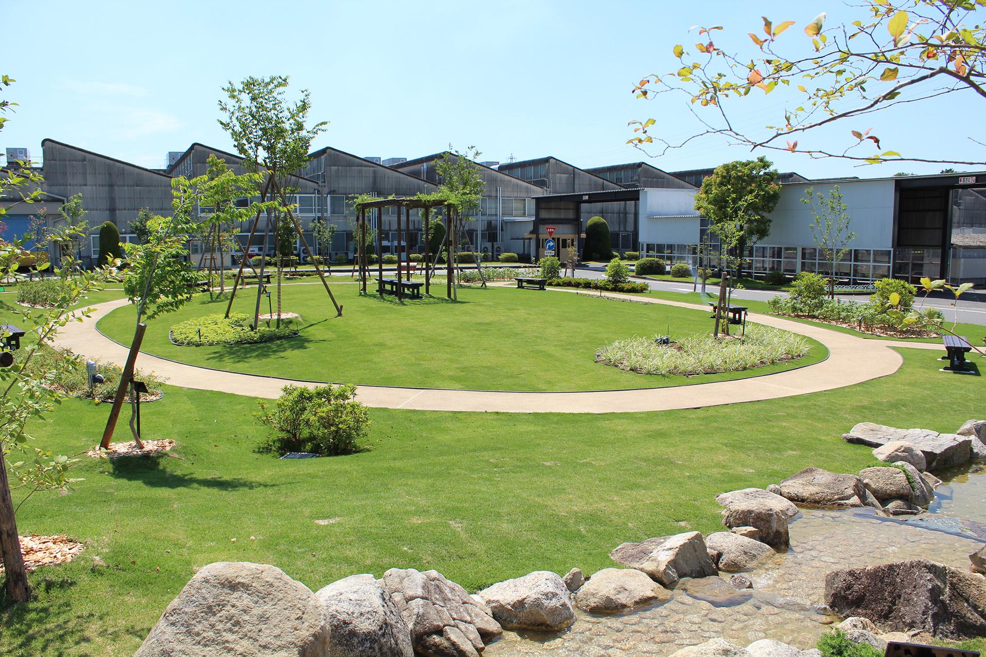 工場内に整備した緑地「セントラルパーク」